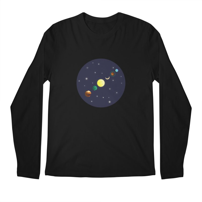 Starry night Men's Longsleeve T-Shirt by hristodonev's Artist Shop