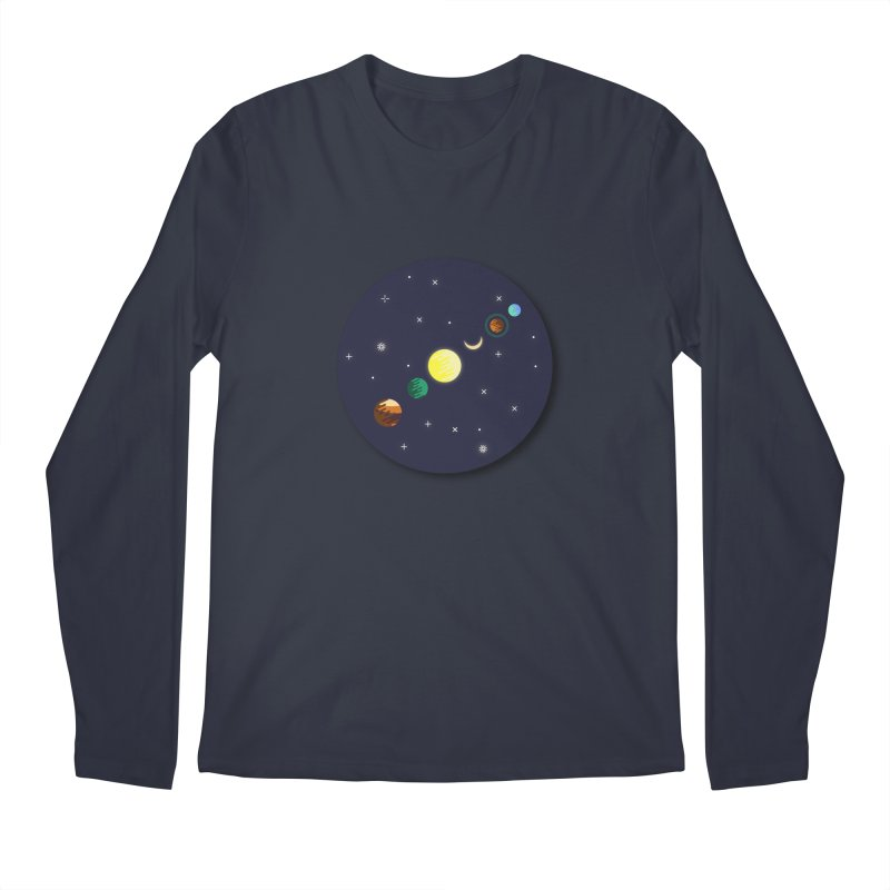 Starry night Men's Regular Longsleeve T-Shirt by Hristo's Shop