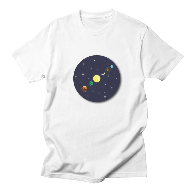 Starry night Men's T-shirt by hristodonev's Artist Shop
