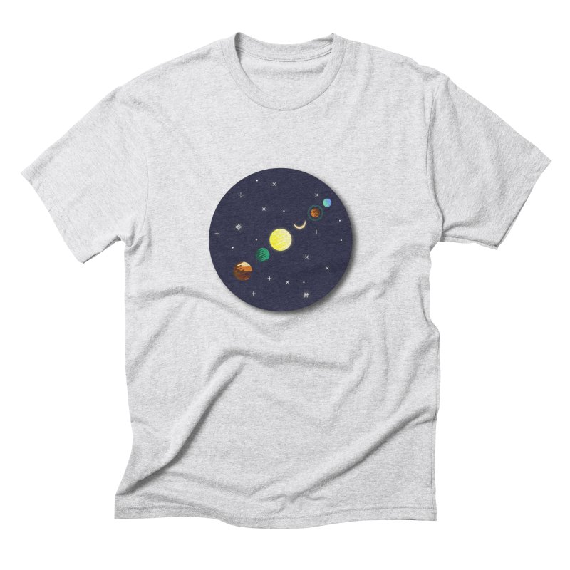 Starry night Men's Triblend T-Shirt by hristodonev's Artist Shop