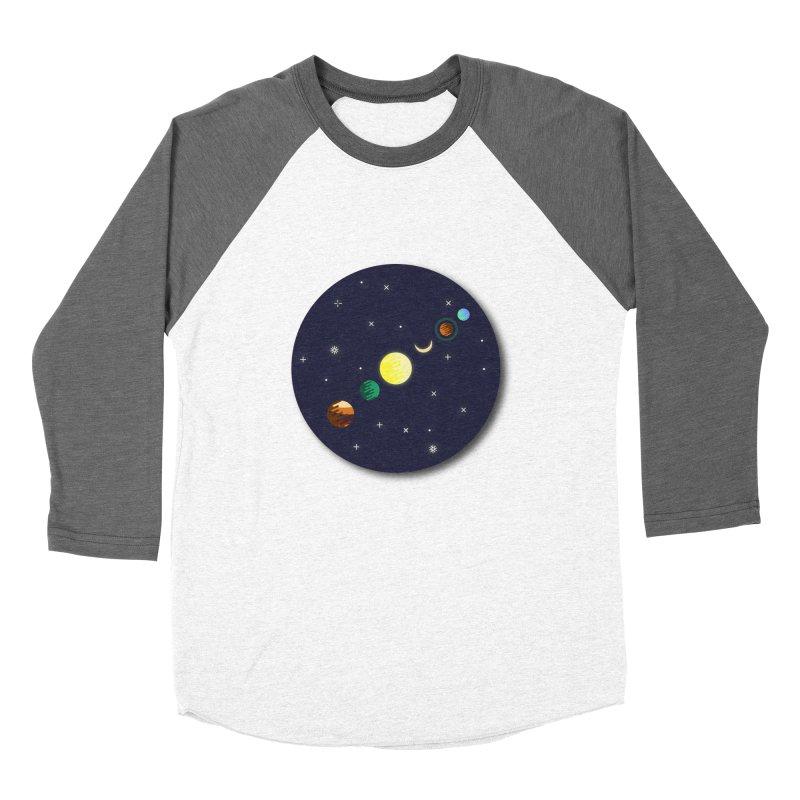 Starry night Women's Baseball Triblend T-Shirt by hristodonev's Artist Shop