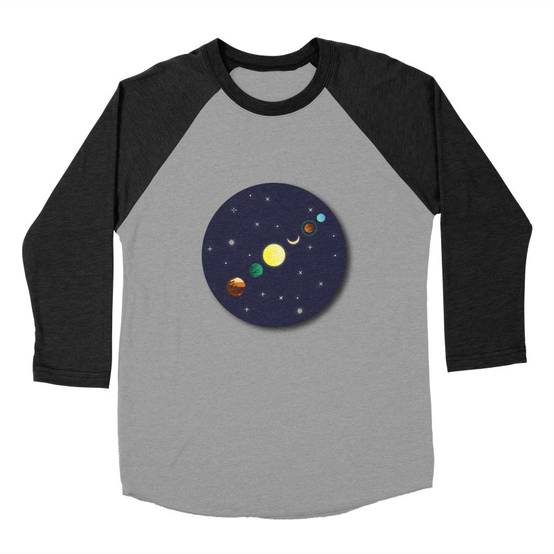 Starry night Women's Baseball Triblend Longsleeve T-Shirt by Hristo's Shop