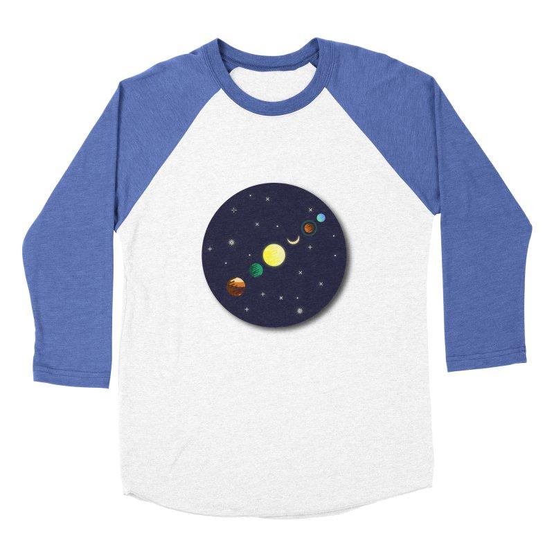 Starry night Men's Baseball Triblend T-Shirt by hristodonev's Artist Shop