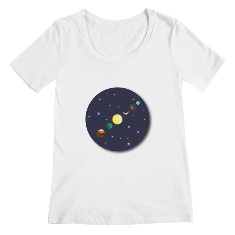 Starry night Women's Scoopneck by Hristo's Shop