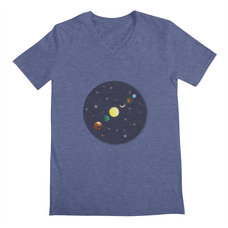 Starry night Men's V-Neck by Hristo's Shop