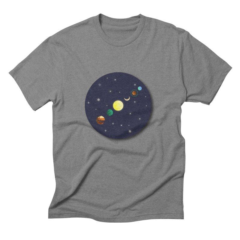 Starry night Men's Triblend T-shirt by hristodonev's Artist Shop