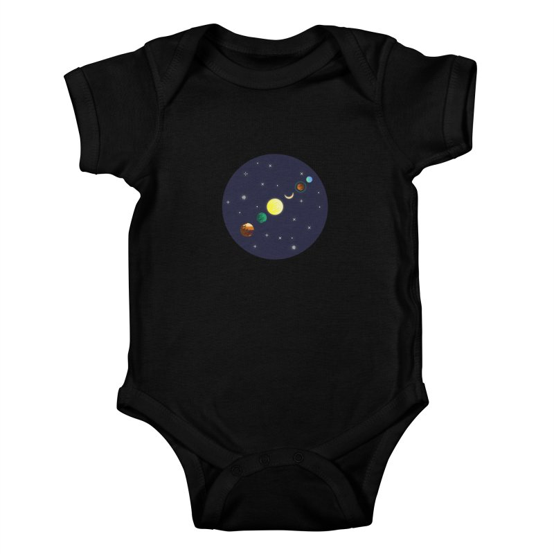Starry night Kids Baby Bodysuit by hristodonev's Artist Shop