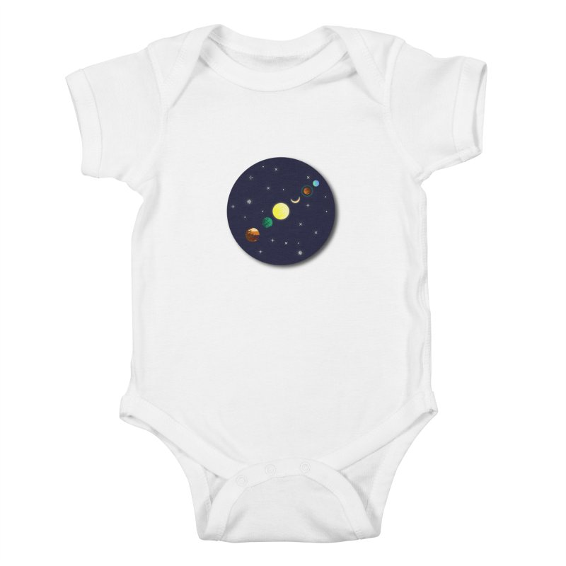Starry night Kids Baby Bodysuit by Hristo's Shop