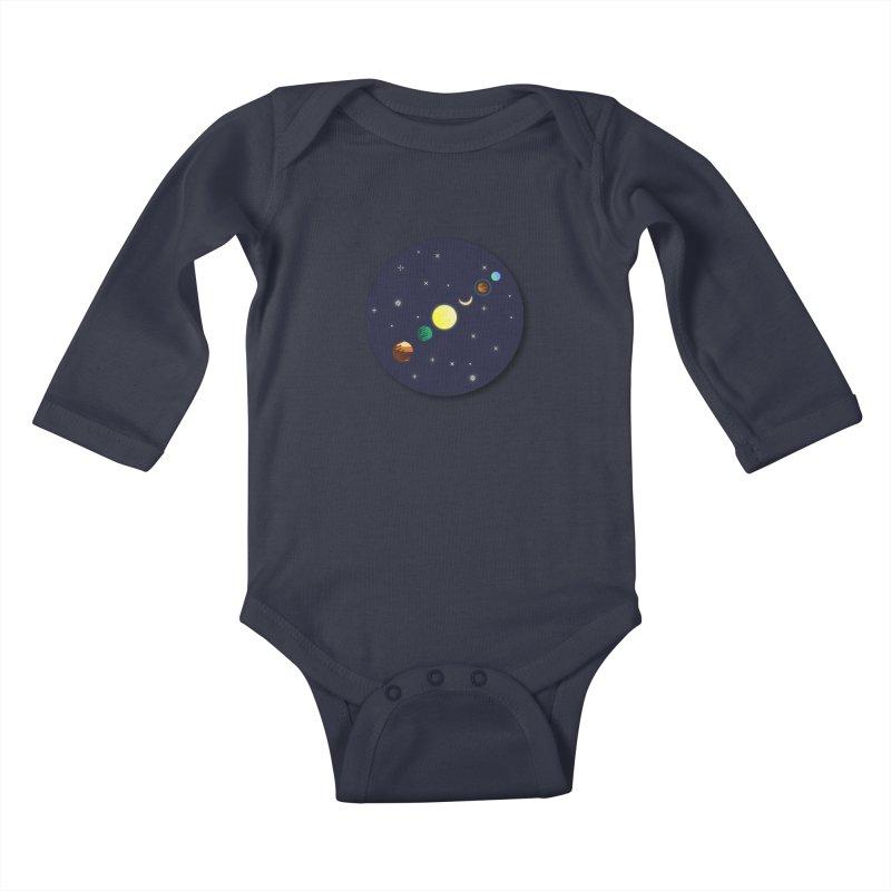 Starry night Kids Baby Longsleeve Bodysuit by hristodonev's Artist Shop