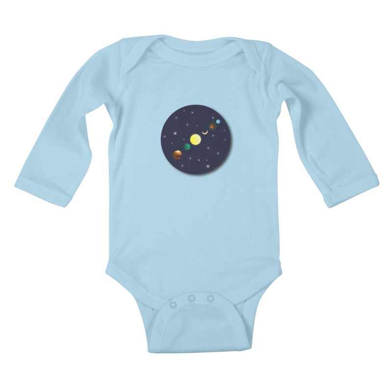 Starry night Kids Baby Longsleeve Bodysuit by Hristo's Shop