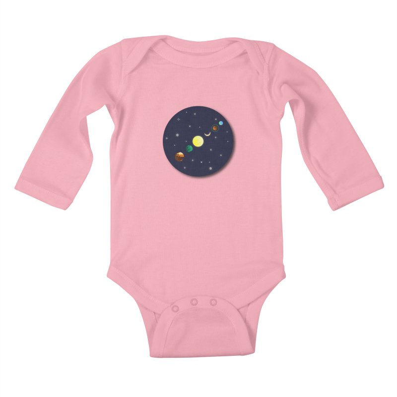 Starry night Kids Baby Longsleeve Bodysuit by hristodonev's Artist Shop