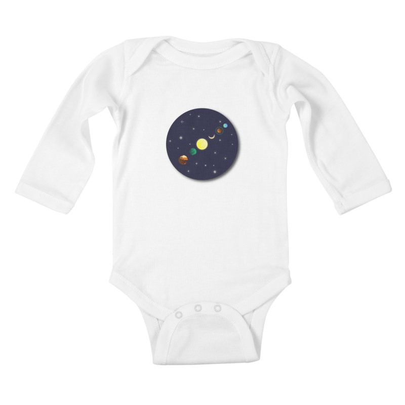 Starry night Kids Baby Longsleeve Bodysuit by Hristo's Shop