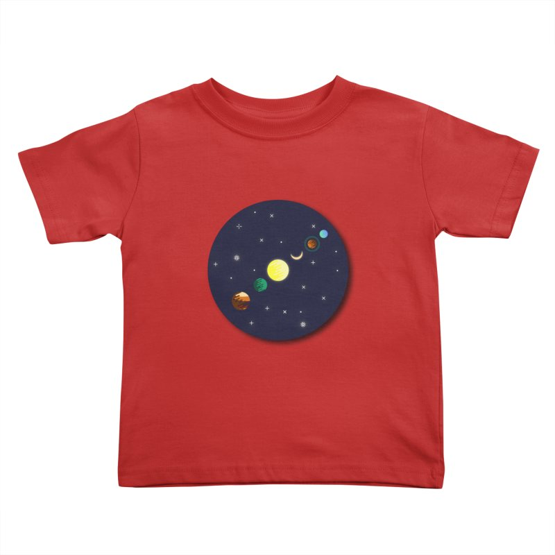 Starry night Kids Toddler T-Shirt by Hristo's Shop
