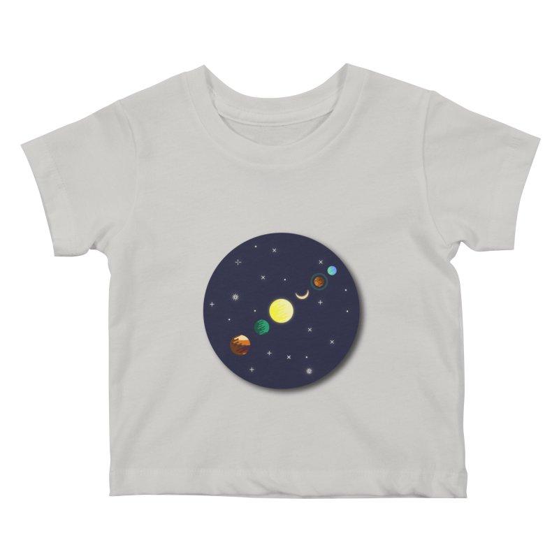 Starry night Kids Baby T-Shirt by Hristo's Shop