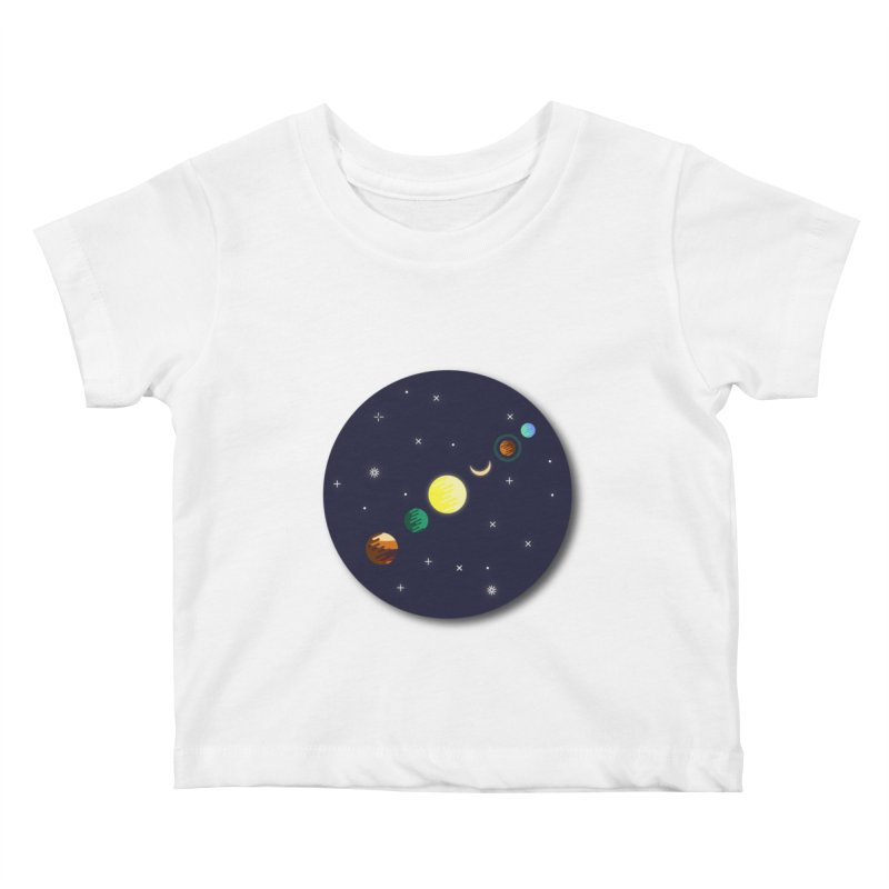 Starry night Kids Baby T-Shirt by Hristo's Shop