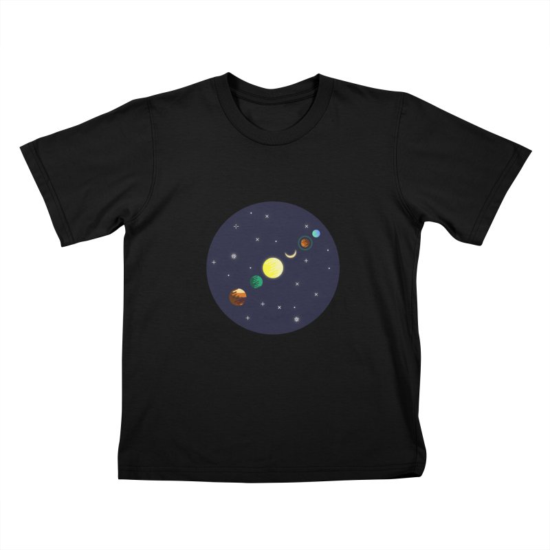 Starry night Kids T-Shirt by Hristo's Shop