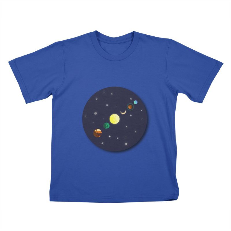 Starry night Kids T-shirt by hristodonev's Artist Shop
