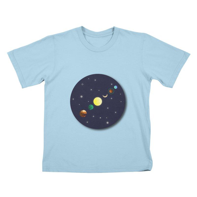 Starry night Kids T-Shirt by Hristo's Shop