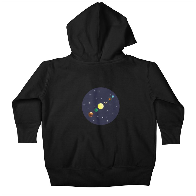 Starry night Kids Baby Zip-Up Hoody by Hristo's Shop