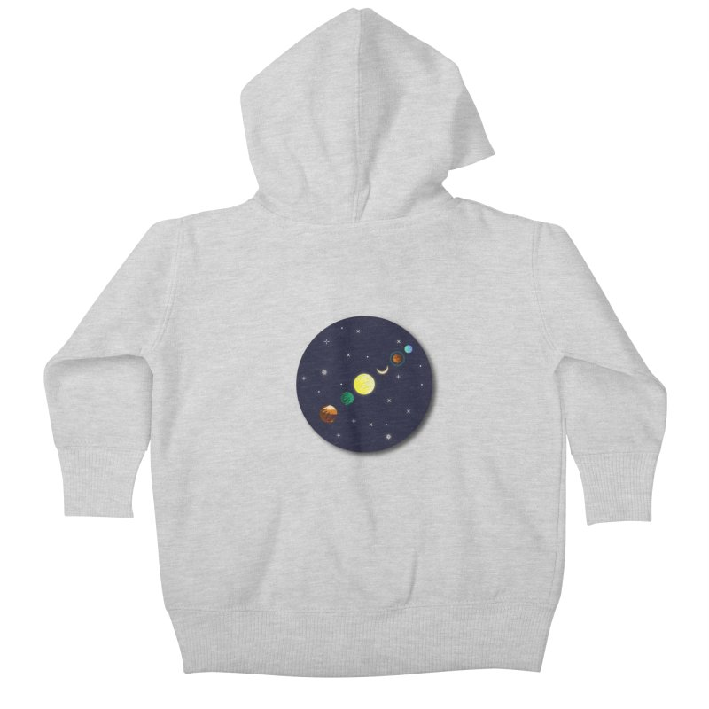 Starry night Kids Baby Zip-Up Hoody by hristodonev's Artist Shop