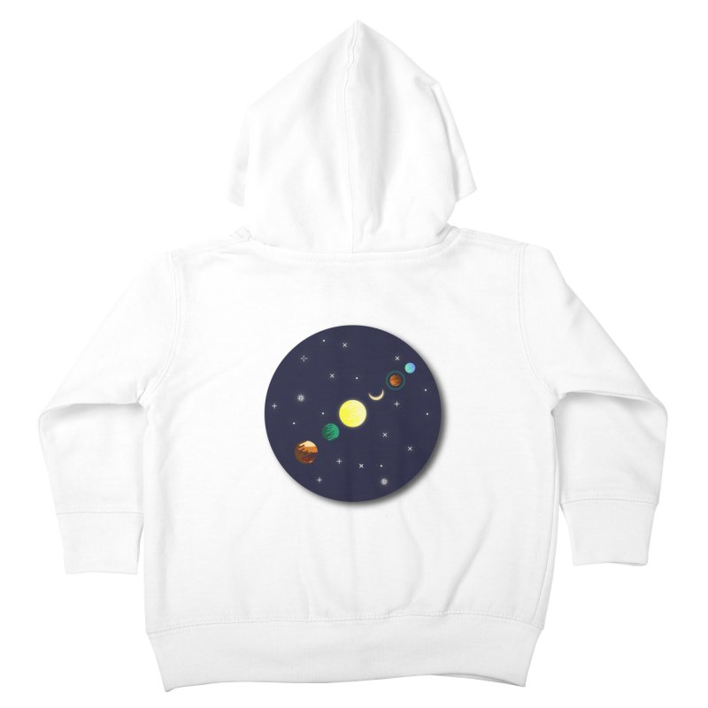 Starry night Kids Toddler Zip-Up Hoody by Hristo's Shop