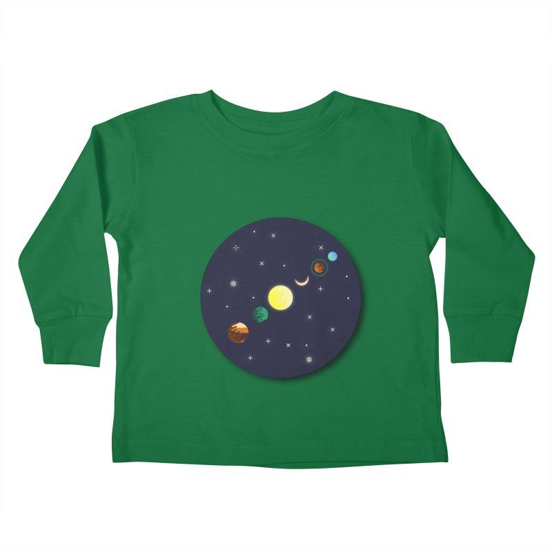 Starry night Kids Toddler Longsleeve T-Shirt by Hristo's Shop