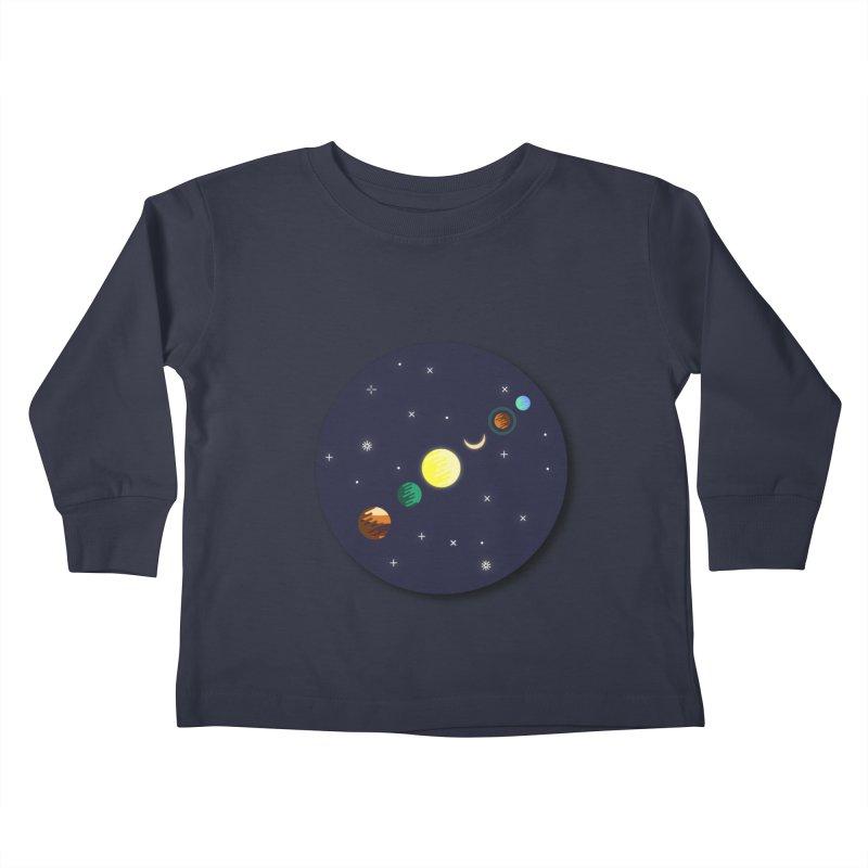 Starry night Kids Toddler Longsleeve T-Shirt by hristodonev's Artist Shop