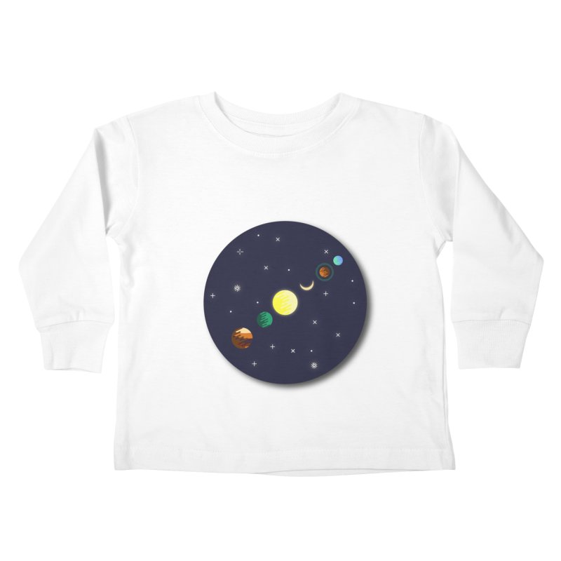 Starry night Kids Toddler Longsleeve T-Shirt by Hristo's Shop