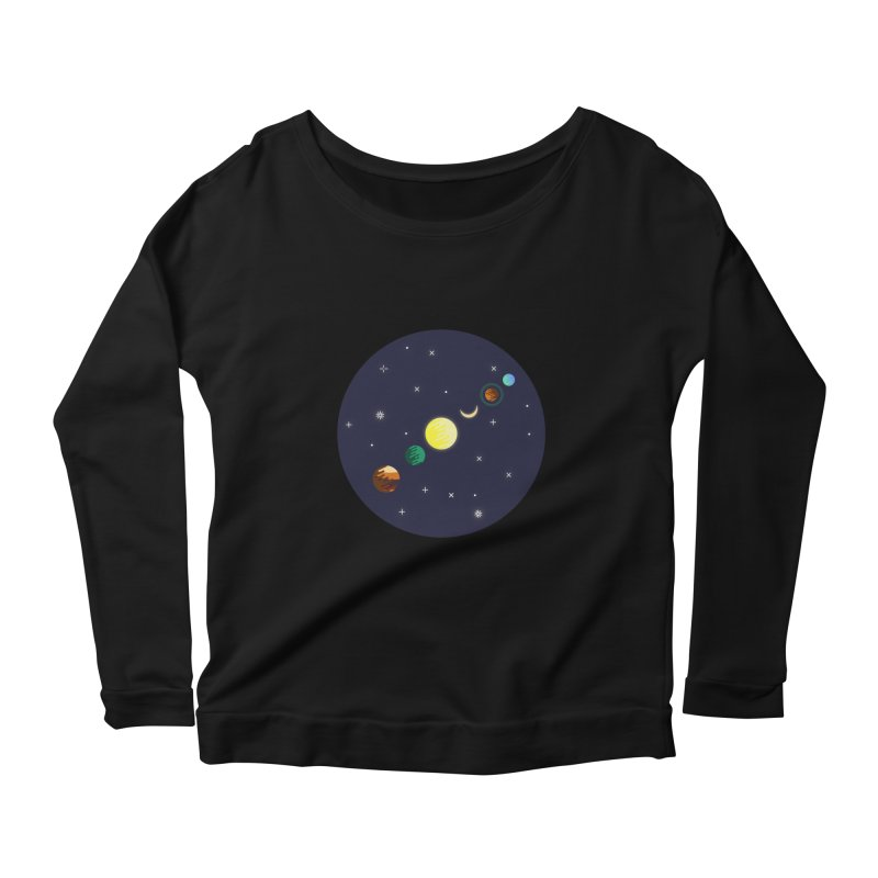 Starry night Women's Scoop Neck Longsleeve T-Shirt by Hristo's Shop