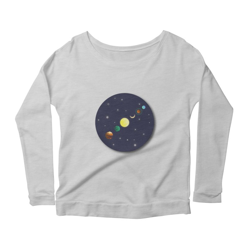 Starry night Women's Longsleeve Scoopneck  by hristodonev's Artist Shop
