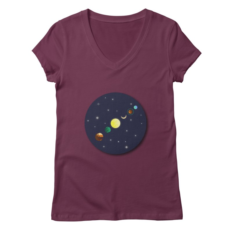 Starry night Women's Regular V-Neck by Hristo's Shop