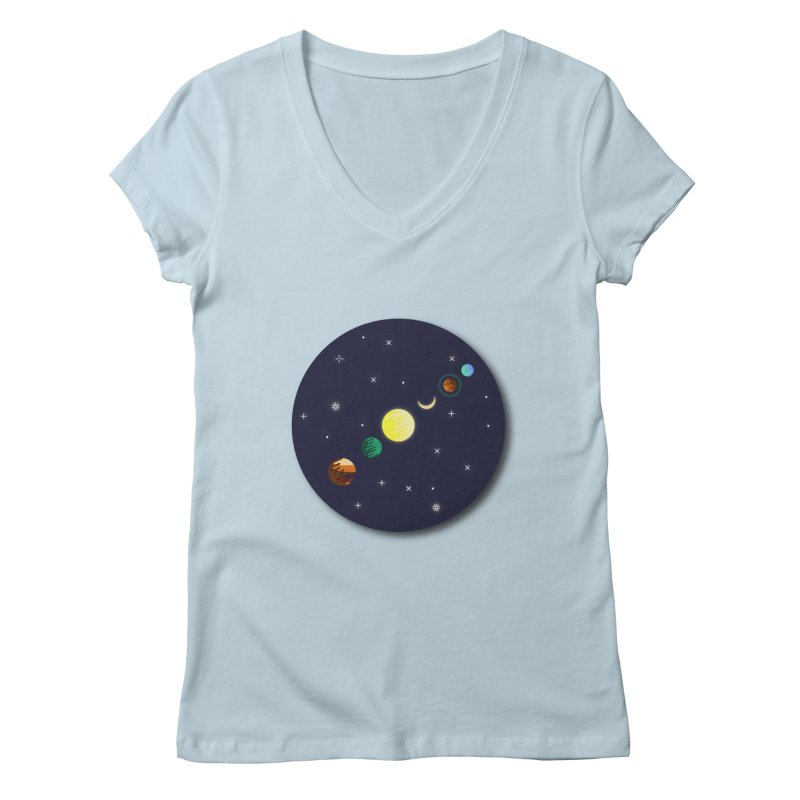 Starry night Women's V-Neck by hristodonev's Artist Shop