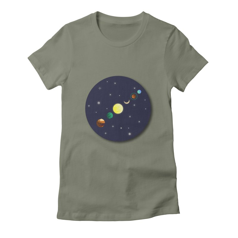Starry night Women's Fitted T-Shirt by Hristo's Shop