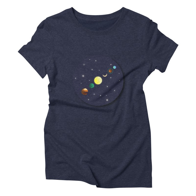 Starry night Women's Triblend T-Shirt by Hristo's Shop