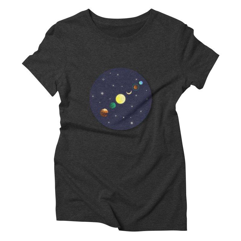 Starry night Women's Triblend T-shirt by hristodonev's Artist Shop