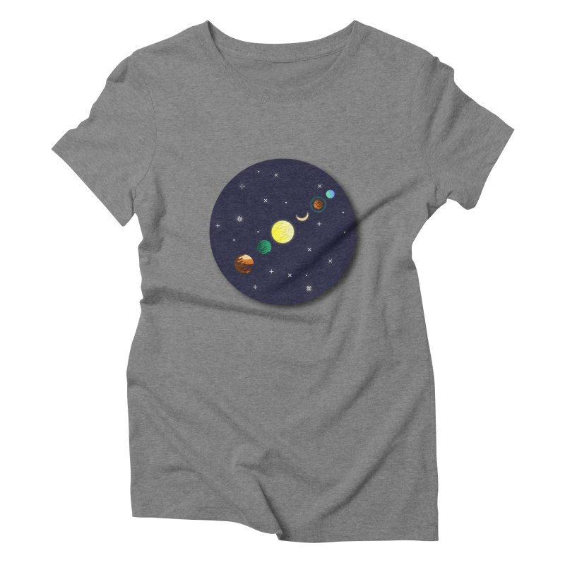 Starry night Women's Triblend T-Shirt by Hristo's Shop