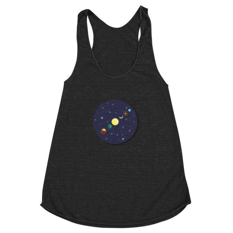 Starry night Women's Racerback Triblend Tank by Hristo's Shop