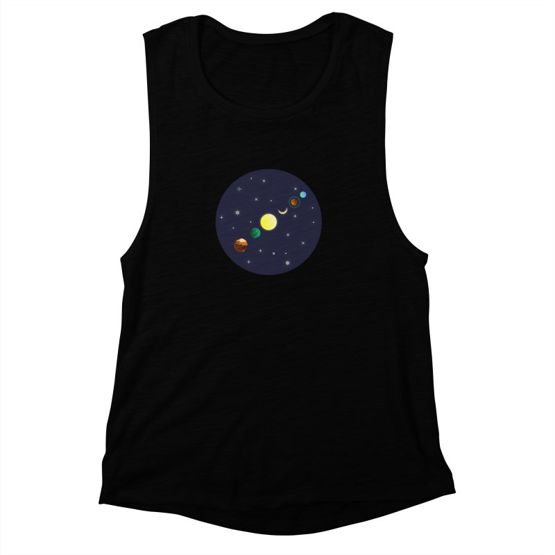 Starry night Women's Muscle Tank by hristodonev's Artist Shop