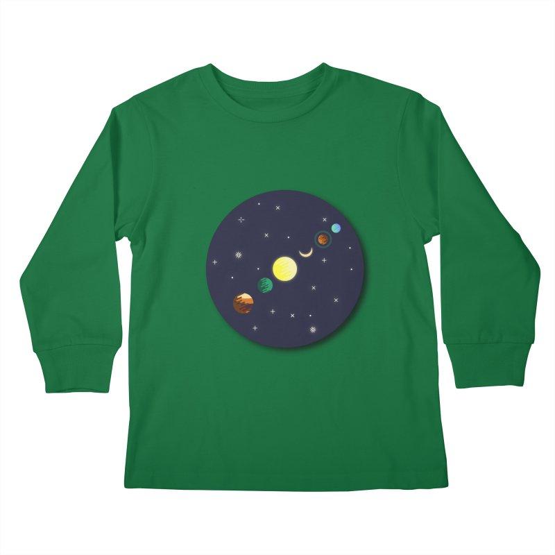 Starry night Kids Longsleeve T-Shirt by Hristo's Shop