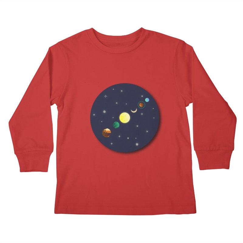 Starry night Kids Longsleeve T-Shirt by hristodonev's Artist Shop