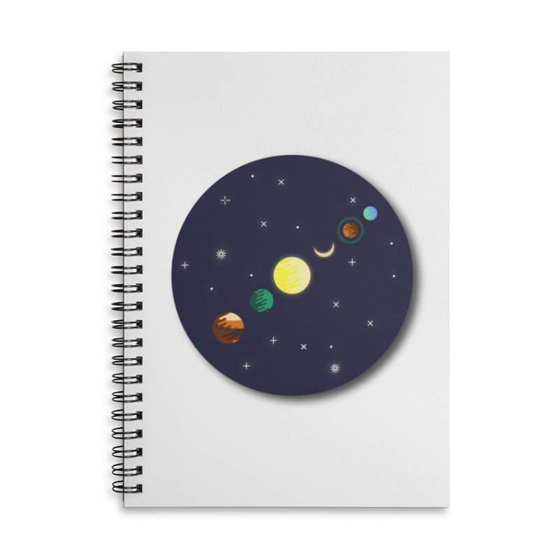 Starry night Accessories Lined Spiral Notebook by Hristo's Shop