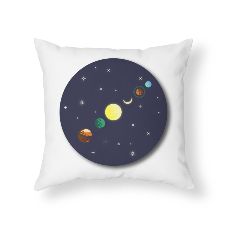 Starry night Home Throw Pillow by hristodonev's Artist Shop