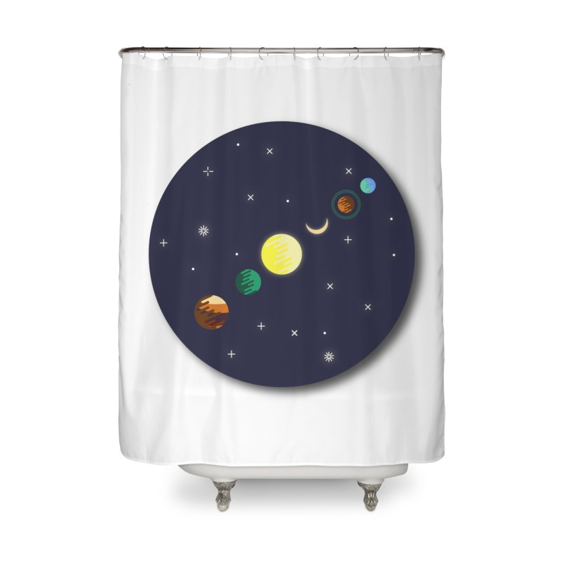 Starry night Home Shower Curtain by hristodonev's Artist Shop