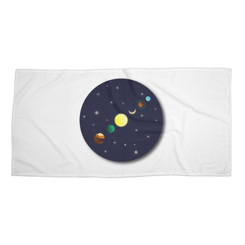 Starry night Accessories Beach Towel by hristodonev's Artist Shop