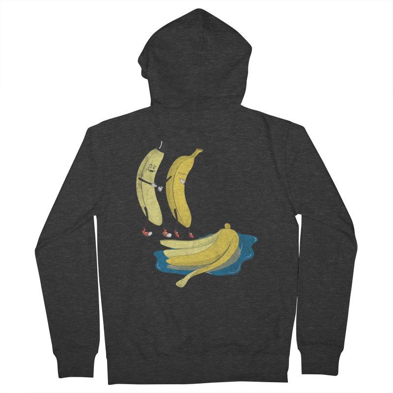 Banana Gentleman Women's Zip-Up Hoody by hristodonev's Artist Shop