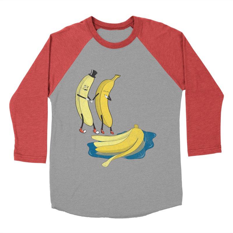 Banana Gentleman Women's Baseball Triblend T-Shirt by hristodonev's Artist Shop