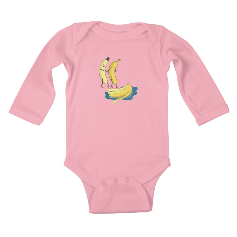 Banana Gentleman Kids Baby Longsleeve Bodysuit by hristodonev's Artist Shop