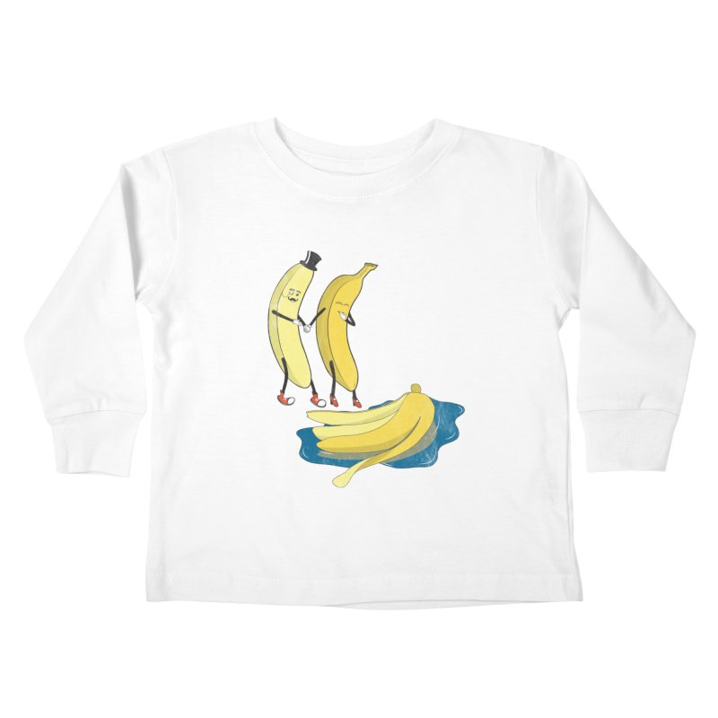Banana Gentleman Kids Toddler Longsleeve T-Shirt by hristodonev's Artist Shop