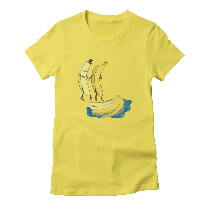 Banana Gentleman Women's Fitted T-Shirt by hristodonev's Artist Shop