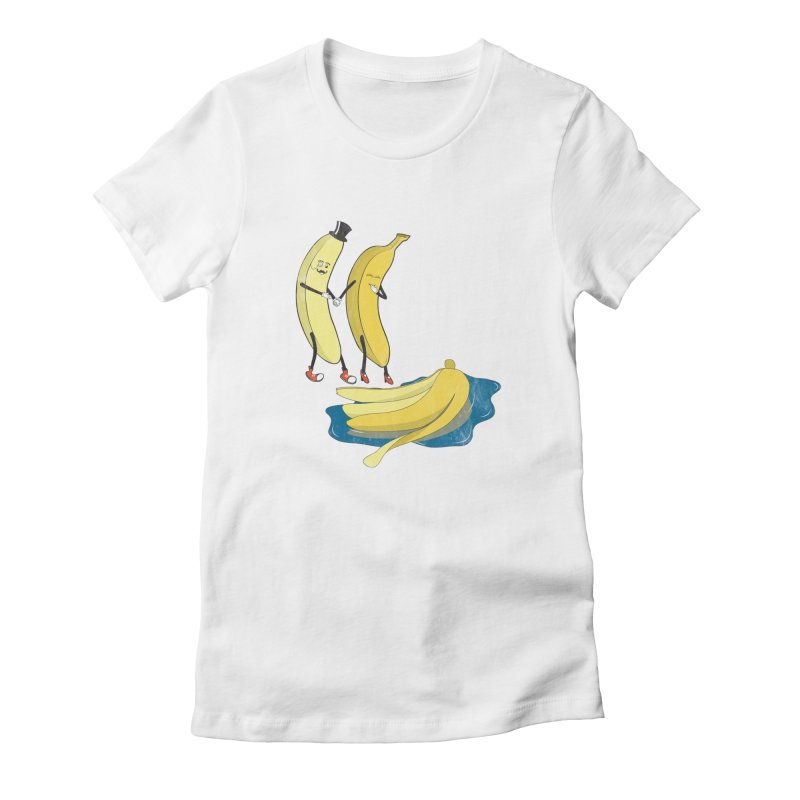 Banana Gentleman Women's Fitted T-Shirt by Hristo's Shop